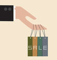 Hand hang with discount tag vector image vector image