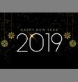 happy new year 2019 seasonal background vector image vector image