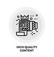 High Quality Content Line Icon vector image vector image