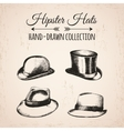 Hipster fashion vintage elements hand-drawn mega vector image