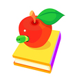 icon book and apple vector image vector image