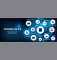 industry 40 futuristic banner vector image vector image