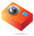 Isometric icon of compact photo camera vector image vector image