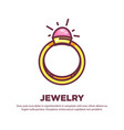 jewelry promotional poster with elegant expensive vector image vector image