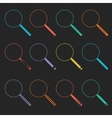 Magnifier Glass and Zoom Icons vector image vector image