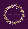 merry christmas wreath new year decoration with vector image vector image