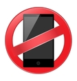 mobile phone forbidden vector image vector image