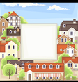 old town background vector image vector image