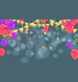 party decoration concept happy birthday greeting vector image