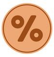 percent bronze coin vector image vector image