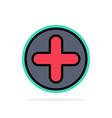plus sign hospital medical abstract circle vector image vector image