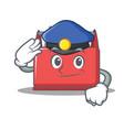police tool box character cartoon vector image vector image