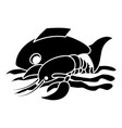 sea food icon simple style vector image