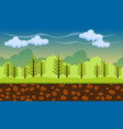 seamless cartoon nature landscape vector image