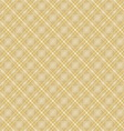 Seamless cross brown shading diagonal pattern vector image vector image