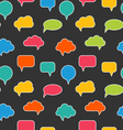 Seamless Texture with Blank Speech Bubbles vector image vector image