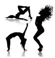 set dancing woman vector image