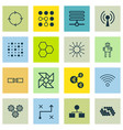 set of 16 machine learning icons includes vector image vector image