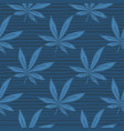 simple seamless doodle cannabis pattern leaves vector image vector image