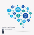 smart home control iot automation house security vector image