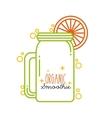 smoothie juice design vector image vector image