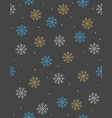snowflakes and dots christmas pattern vector image