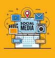 social media technological vector image vector image