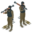 Spec ops police officers SWAT in black uniform vector image vector image