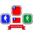 symbol of Myanmar vector image vector image
