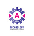 technology letter a - logo template concept vector image vector image