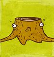 Tree Stump Cartoon Background vector image