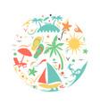 tropical summer beach icon concept vector image