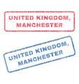 united kingdom manchester textile stamps vector image vector image