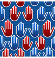 USA elections hand pattern vector image vector image