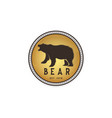 vintage bear circle shape logo design inspiration vector image