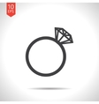 wedding ring icon Eps10 vector image