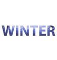 winter words on beautiful christmas flat vector image vector image