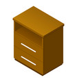 wood drawer icon isometric style vector image