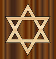 wooden star of david vector image vector image