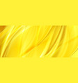 yellow orange abstract smooth waves background vector image vector image