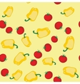 Yellow pepper and tomato seamless texture 564 vector image