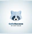 cute raccoon sign emblem or logo template vector image