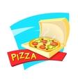 Pizza concept design vector image