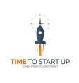 time to start up rocket flat vector image