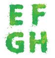 e f g h handdrawn english alphabet - letters vector image