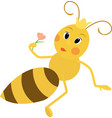 a cute queen bee vector image vector image