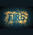 abstract fire blast of burning vector image vector image