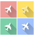 airplane - icon vector image vector image