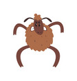 angry funny sheep character standing on two legs vector image