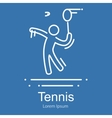 Big sport game icon one man tennis player outline vector image